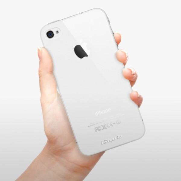 Plastové pouzdro iSaprio - 4Pure - mléčný bez potisku - iPhone 4/4S