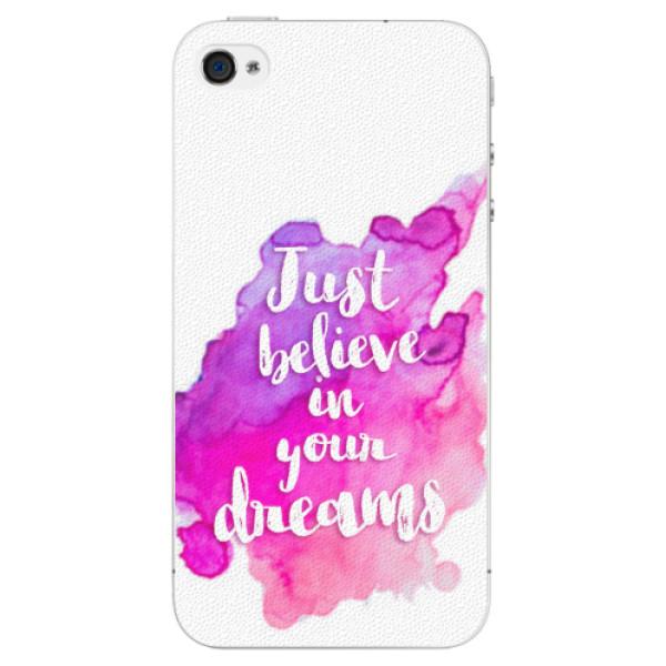 Plastové pouzdro iSaprio - Believe - iPhone 4/4S