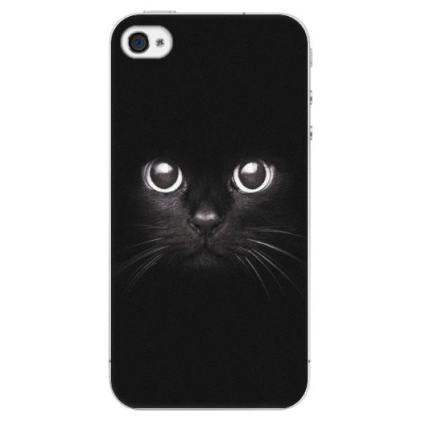 Plastové pouzdro iSaprio - Black Cat - iPhone 4/4S