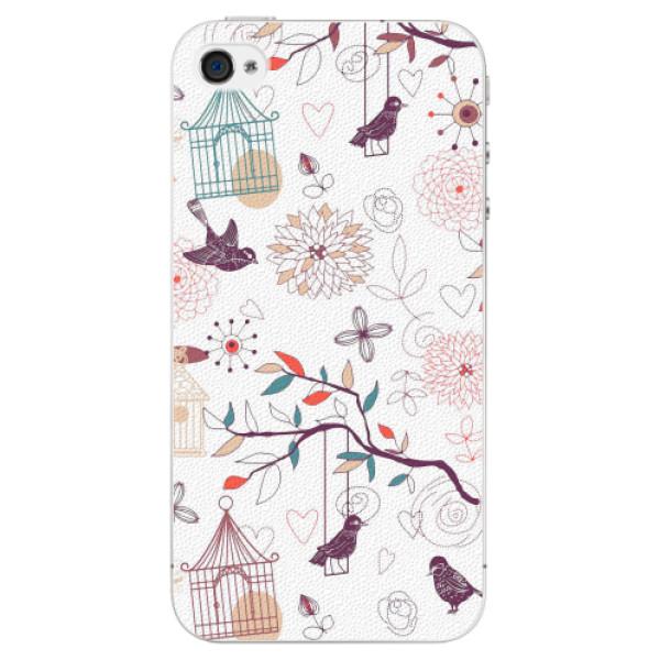 Plastové pouzdro iSaprio - Birds - iPhone 4/4S