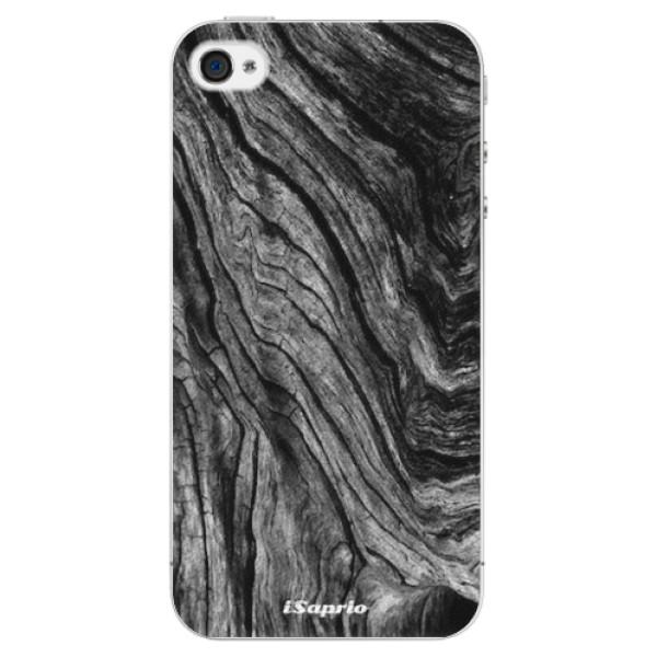 Plastové pouzdro iSaprio - Burned Wood - iPhone 4/4S