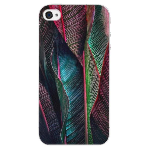 Plastové pouzdro iSaprio - Black Leaves - iPhone 4/4S