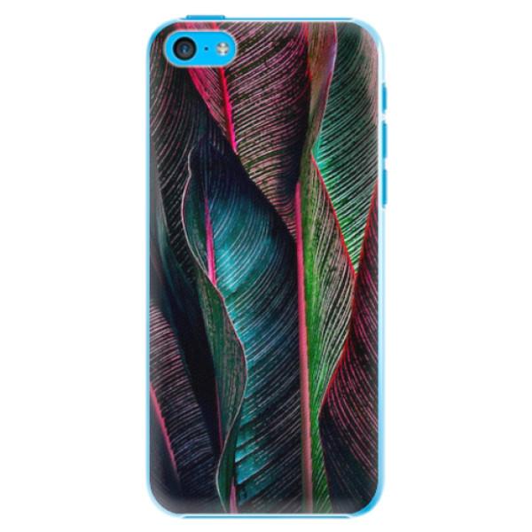Plastové pouzdro iSaprio - Black Leaves - iPhone 5C