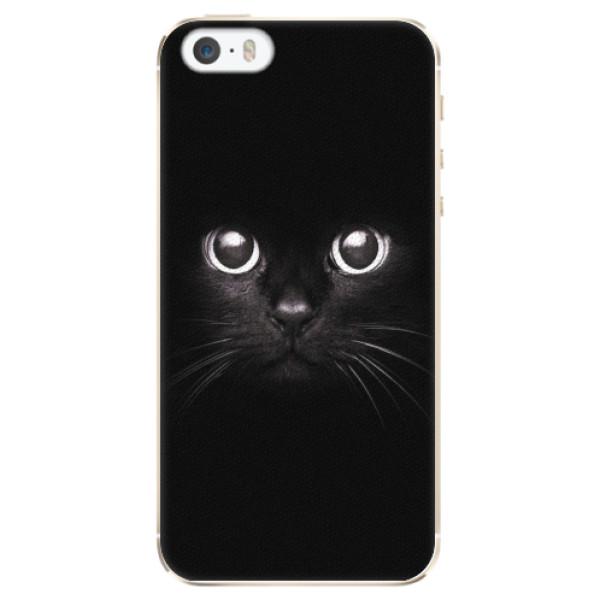 Plastové pouzdro iSaprio - Black Cat - iPhone 5/5S/SE