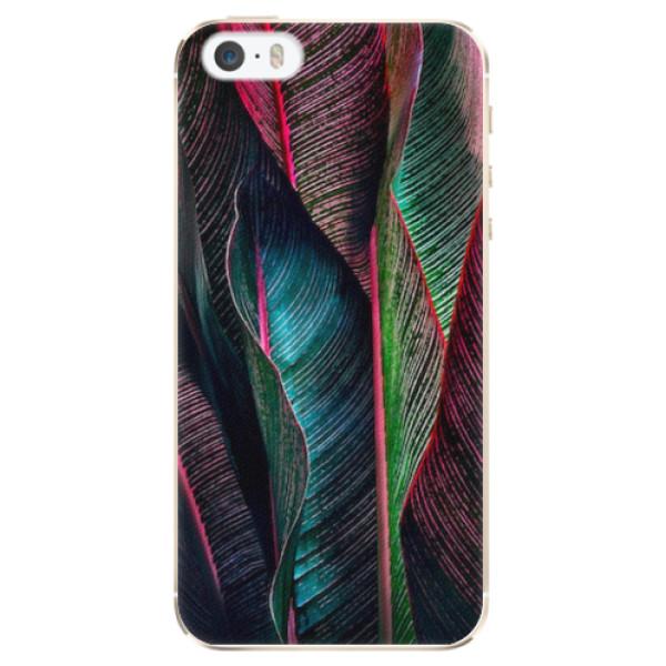 Plastové pouzdro iSaprio - Black Leaves - iPhone 5/5S/SE