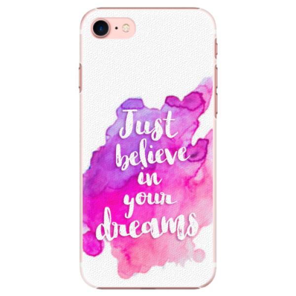 Plastové pouzdro iSaprio - Believe - iPhone 7