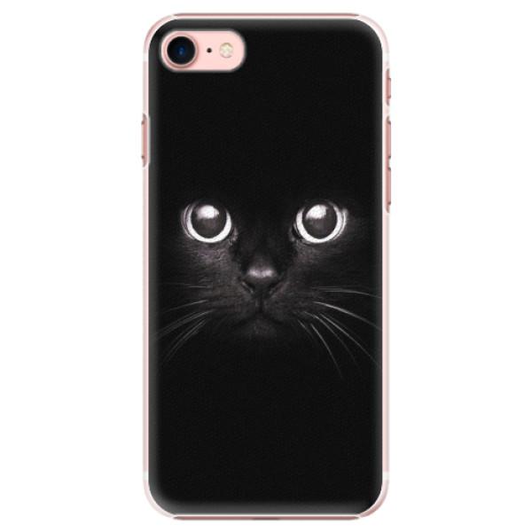 Plastové pouzdro iSaprio - Black Cat - iPhone 7