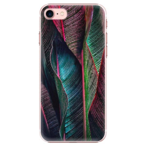 Plastové pouzdro iSaprio - Black Leaves - iPhone 7