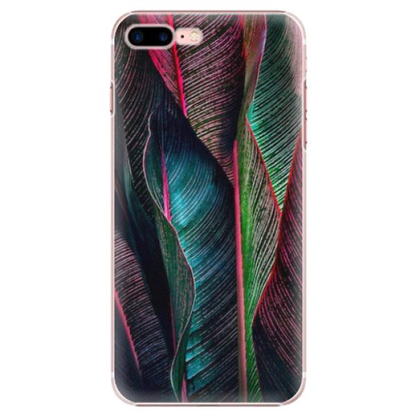 Plastové pouzdro iSaprio - Black Leaves - iPhone 7 Plus