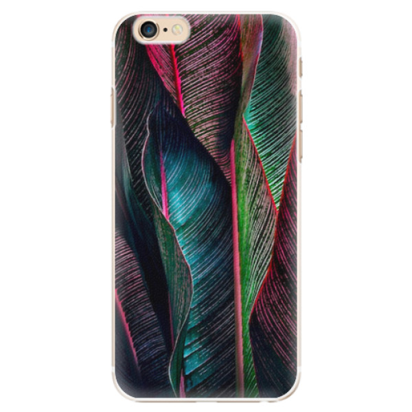 Plastové pouzdro iSaprio - Black Leaves - iPhone 6/6S