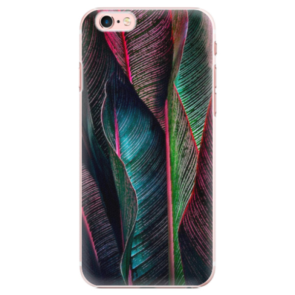 Plastové pouzdro iSaprio - Black Leaves - iPhone 6 Plus/6S Plus