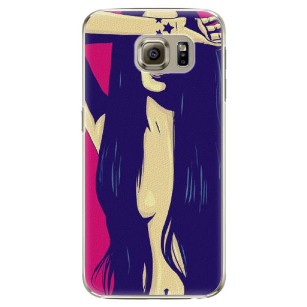 Plastové pouzdro iSaprio - Cartoon Girl - Samsung Galaxy S6