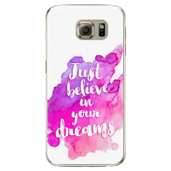 Plastové pouzdro iSaprio - Believe - Samsung Galaxy S6