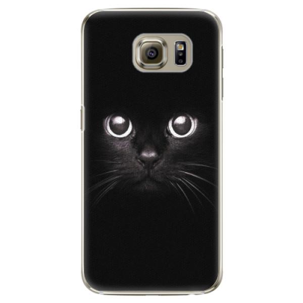 Plastové pouzdro iSaprio - Black Cat - Samsung Galaxy S6