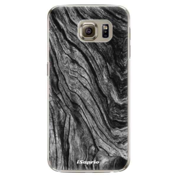 Plastové pouzdro iSaprio - Burned Wood - Samsung Galaxy S6