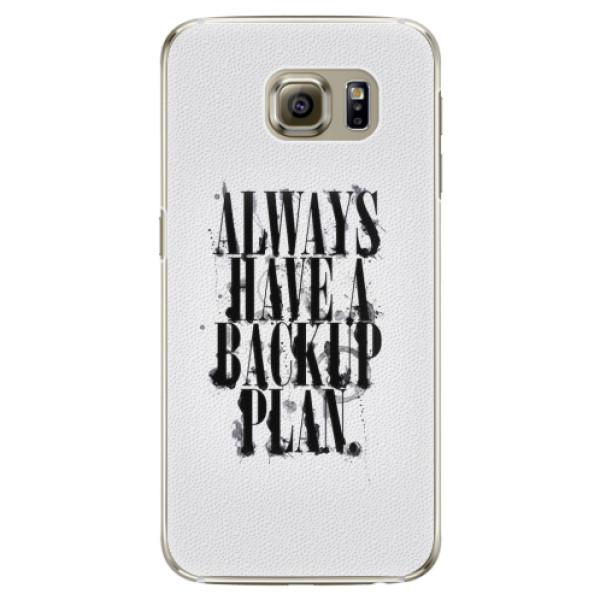 Plastové pouzdro iSaprio - Backup Plan - Samsung Galaxy S6 Edge