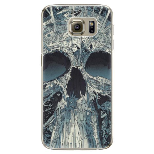 Plastové pouzdro iSaprio - Abstract Skull - Samsung Galaxy S6 Edge