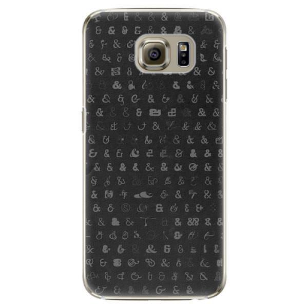 Plastové pouzdro iSaprio - Ampersand 01 - Samsung Galaxy S6 Edge