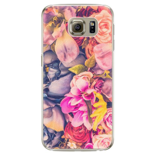 Plastové pouzdro iSaprio - Beauty Flowers - Samsung Galaxy S6 Edge