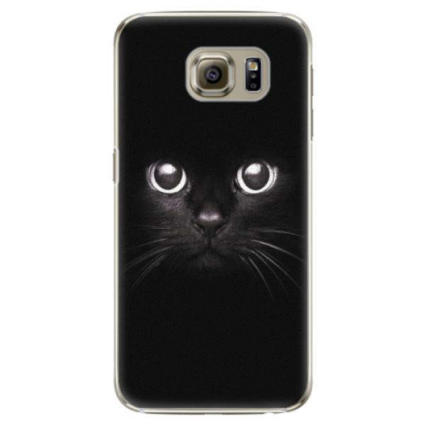 Plastové pouzdro iSaprio - Black Cat - Samsung Galaxy S6 Edge