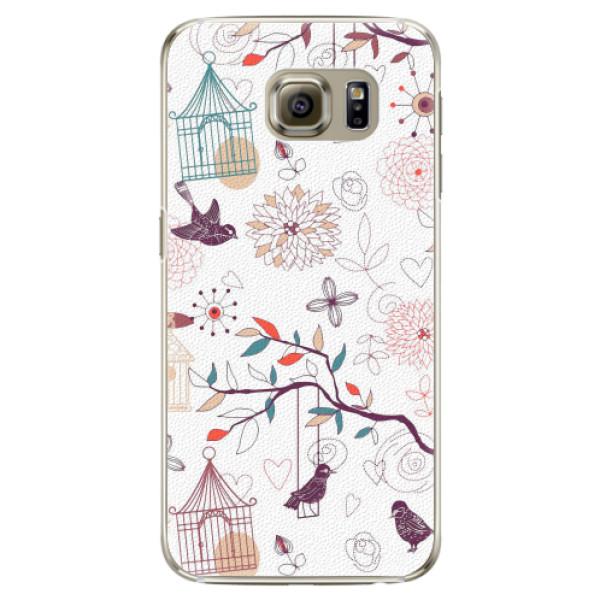 Plastové pouzdro iSaprio - Birds - Samsung Galaxy S6 Edge