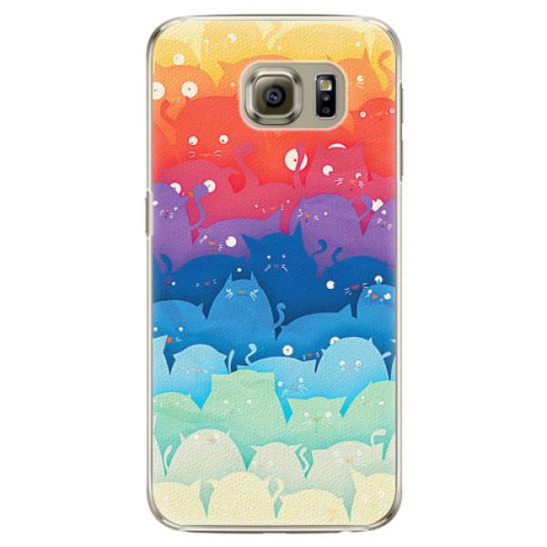 Plastové pouzdro iSaprio - Cats World - Samsung Galaxy S6 Edge