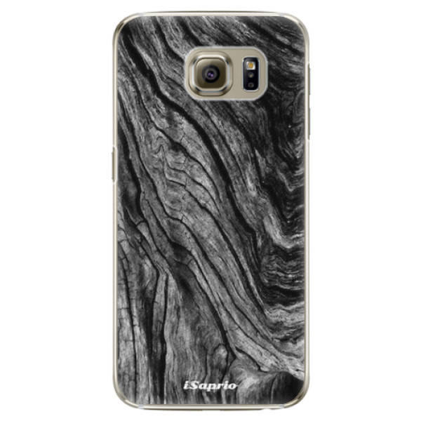 Plastové pouzdro iSaprio - Burned Wood - Samsung Galaxy S6 Edge