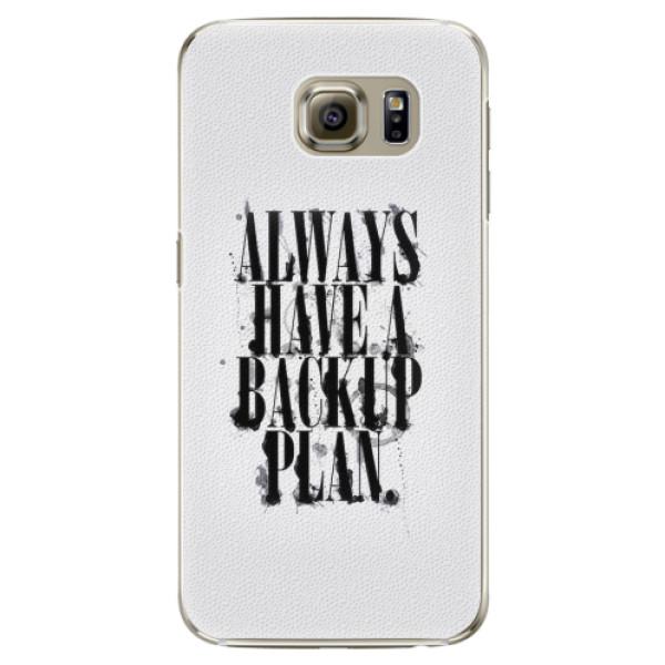 Plastové pouzdro iSaprio - Backup Plan - Samsung Galaxy S6 Edge Plus