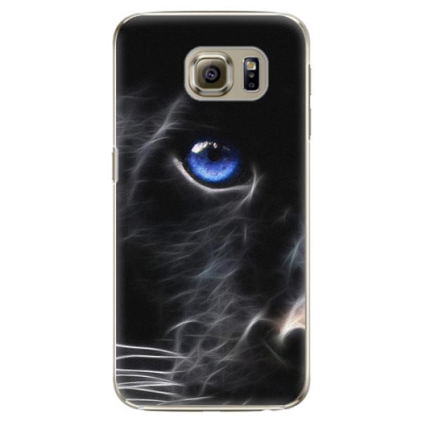 Plastové pouzdro iSaprio - Black Puma - Samsung Galaxy S6 Edge Plus