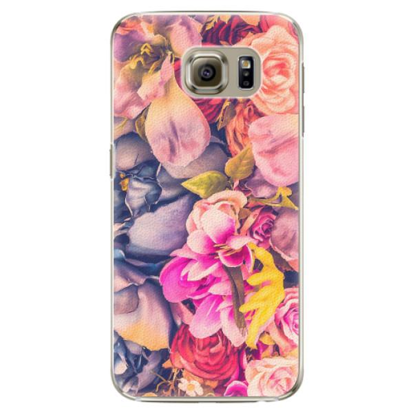 Plastové pouzdro iSaprio - Beauty Flowers - Samsung Galaxy S6 Edge Plus