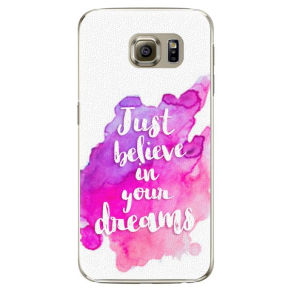 Plastové pouzdro iSaprio - Believe - Samsung Galaxy S6 Edge Plus