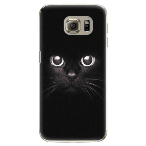 Plastové pouzdro iSaprio - Black Cat - Samsung Galaxy S6 Edge Plus