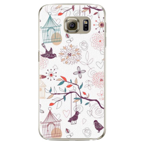 Plastové pouzdro iSaprio - Birds - Samsung Galaxy S6 Edge Plus