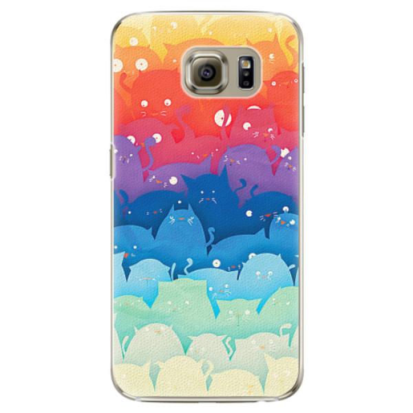 Plastové pouzdro iSaprio - Cats World - Samsung Galaxy S6 Edge Plus