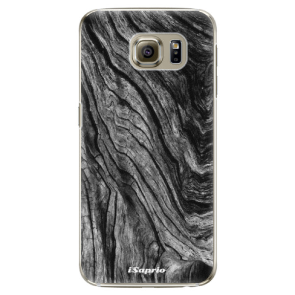 Plastové pouzdro iSaprio - Burned Wood - Samsung Galaxy S6 Edge Plus