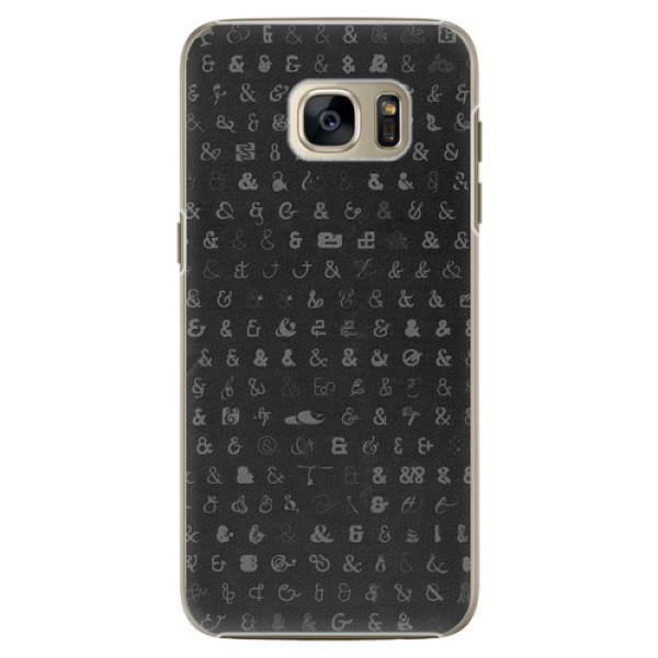 Plastové pouzdro iSaprio - Ampersand 01 - Samsung Galaxy S7