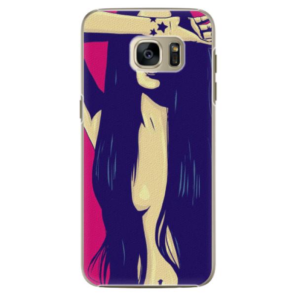 Plastové pouzdro iSaprio - Cartoon Girl - Samsung Galaxy S7