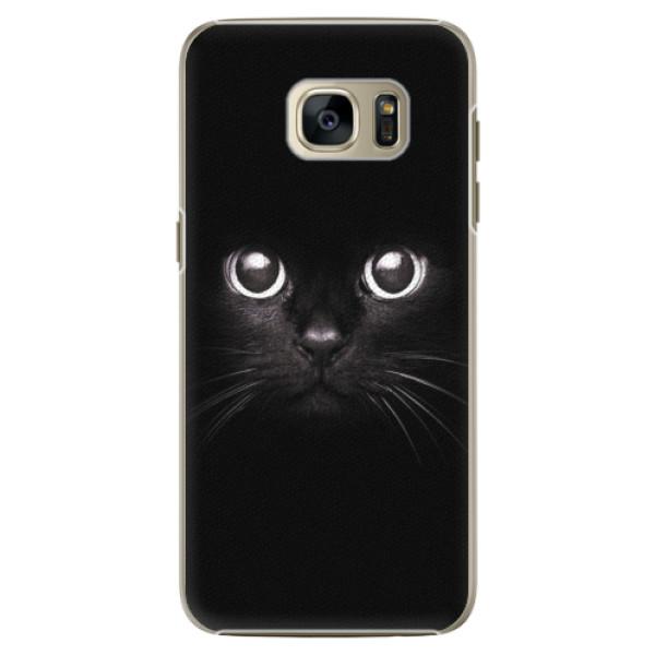 Plastové pouzdro iSaprio - Black Cat - Samsung Galaxy S7