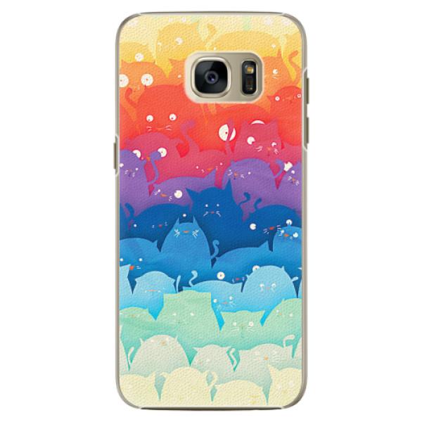 Plastové pouzdro iSaprio - Cats World - Samsung Galaxy S7