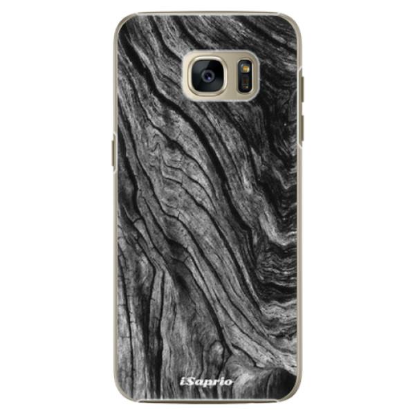 Plastové pouzdro iSaprio - Burned Wood - Samsung Galaxy S7