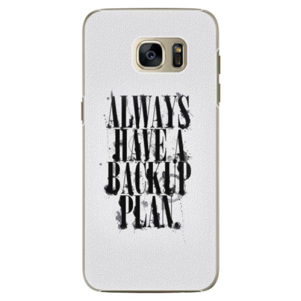 Plastové pouzdro iSaprio - Backup Plan - Samsung Galaxy S7 Edge