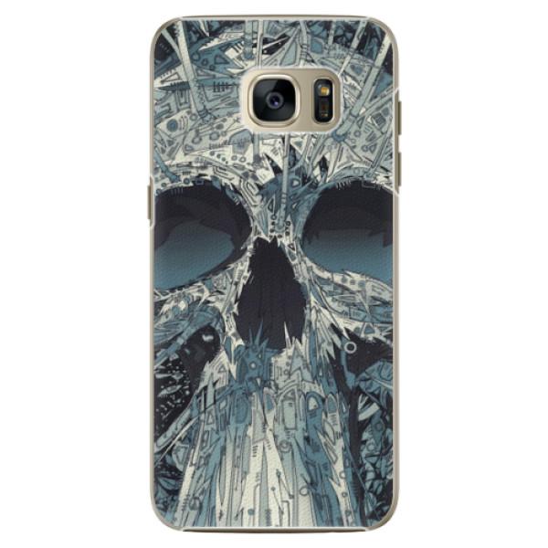 Plastové pouzdro iSaprio - Abstract Skull - Samsung Galaxy S7 Edge