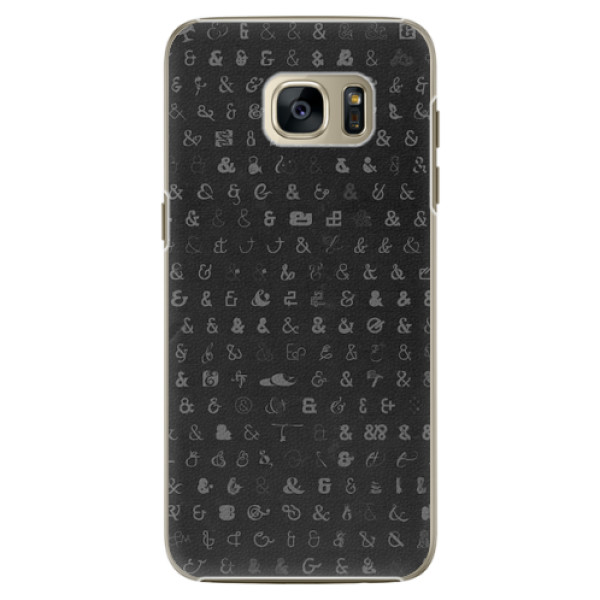 Plastové pouzdro iSaprio - Ampersand 01 - Samsung Galaxy S7 Edge