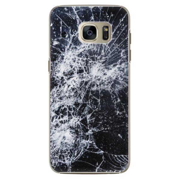 Plastové pouzdro iSaprio - Cracked - Samsung Galaxy S7 Edge