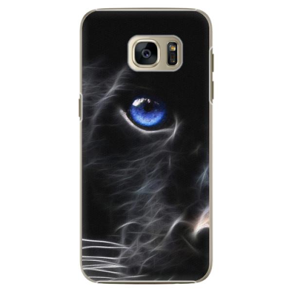 Plastové pouzdro iSaprio - Black Puma - Samsung Galaxy S7 Edge