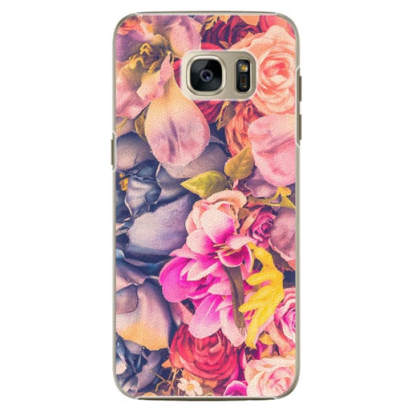 Plastové pouzdro iSaprio - Beauty Flowers - Samsung Galaxy S7 Edge