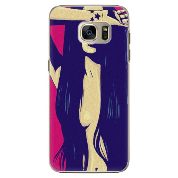 Plastové pouzdro iSaprio - Cartoon Girl - Samsung Galaxy S7 Edge