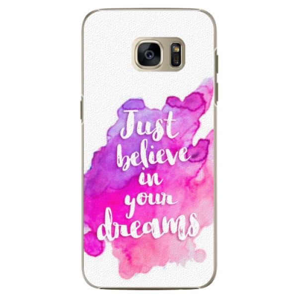 Plastové pouzdro iSaprio - Believe - Samsung Galaxy S7 Edge