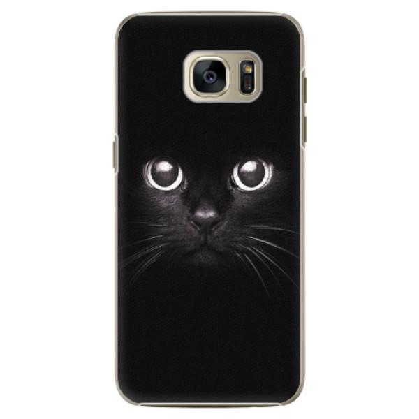 Plastové pouzdro iSaprio - Black Cat - Samsung Galaxy S7 Edge