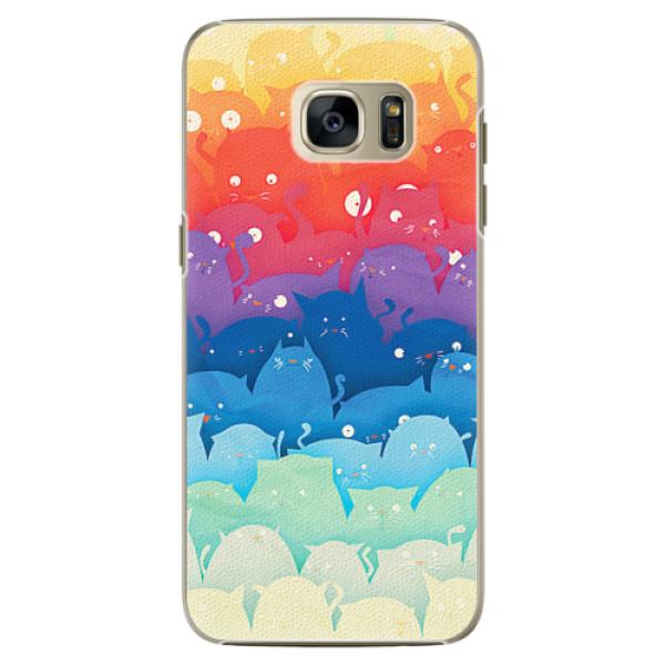 Plastové pouzdro iSaprio - Cats World - Samsung Galaxy S7 Edge